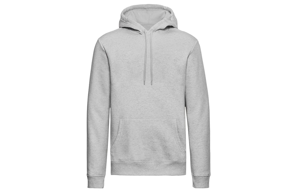 grey pullover on a clean white background | after hollowman removed