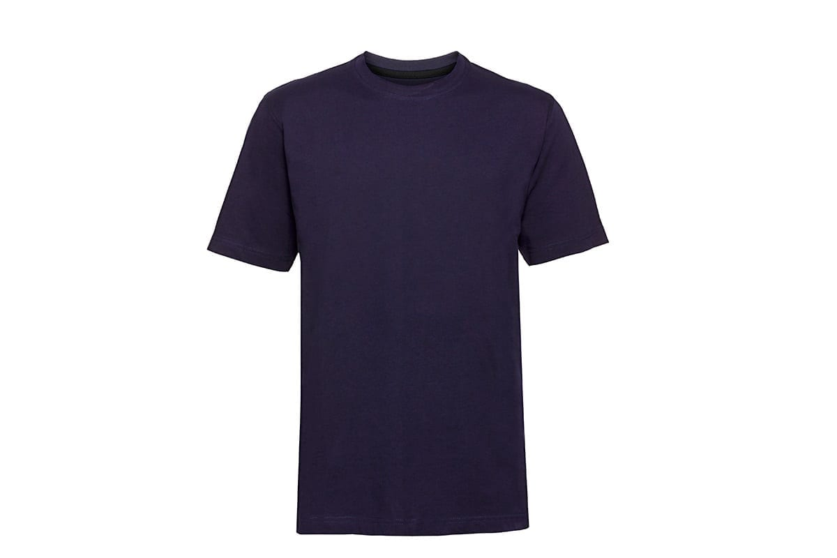 blue t-shirt on white background   after hollowman removed