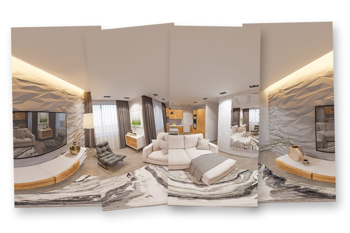 multiple pictures of a room   virtual reality