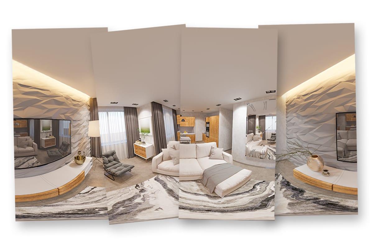 Einzelne Bilder eines Hotelzimmer