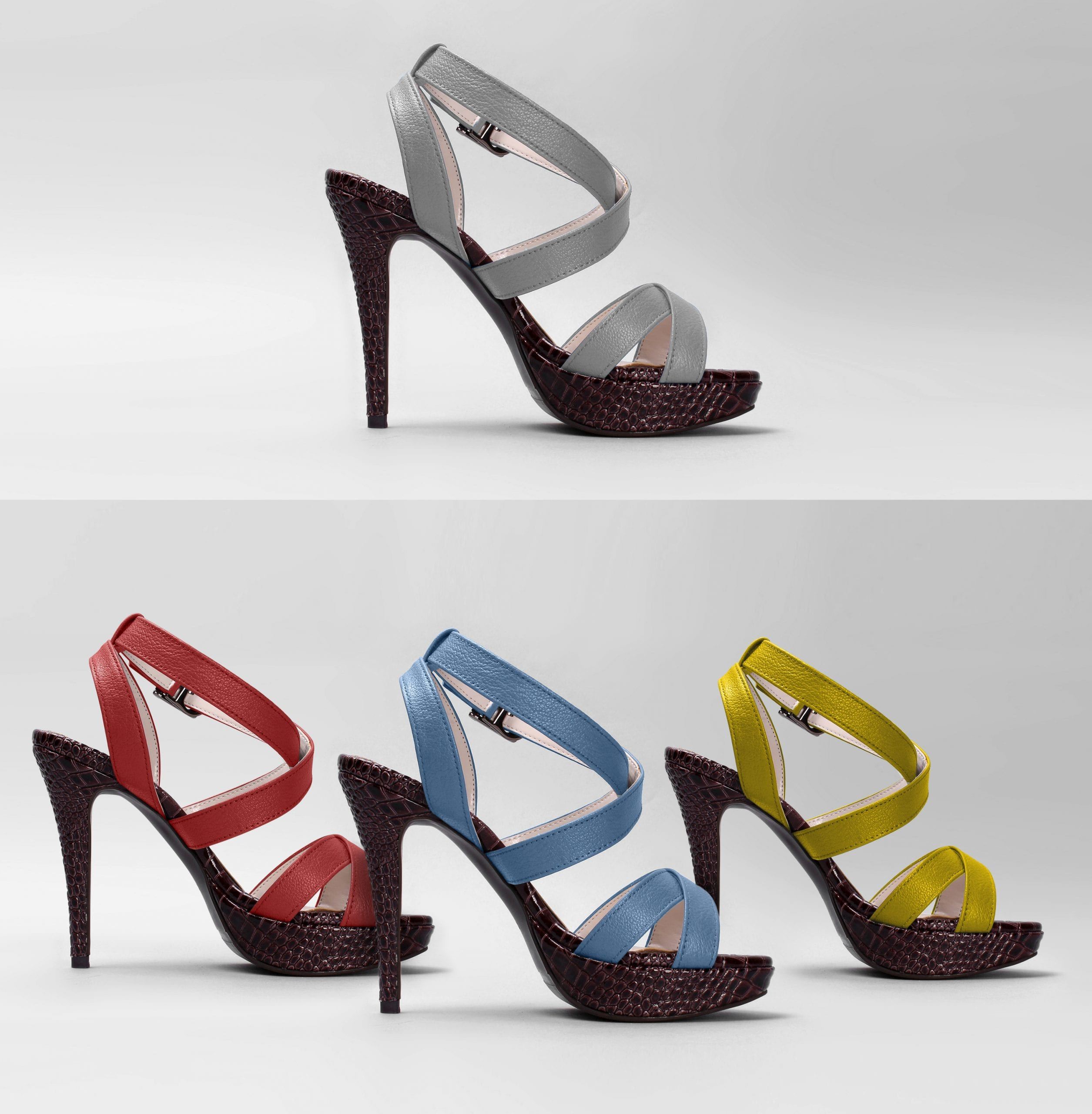 Before and after for Shoe recolouring